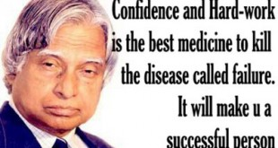 Dr.Abdul Kalam - An inspiration for hardwork