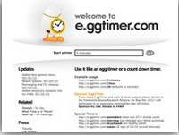 Egg timer online tool to set scheduled alarm
