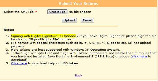 upload xml file for filing income tax ITR online