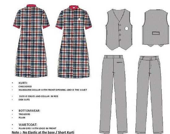 new KV uniform for senior girls