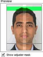 photo with bio-metric mask