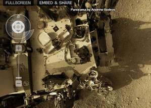 Panorama of Mars using photos taken by Curiosity Rover