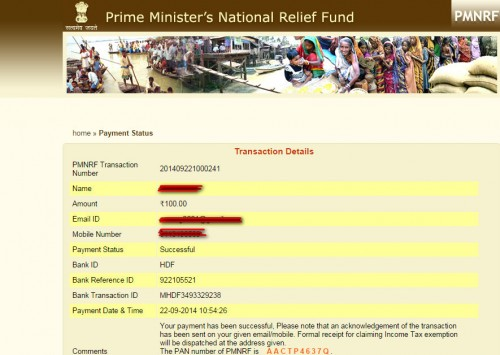 How to donate online to Kashmir flood affected People through Prime Minister National Relief Fund ?
