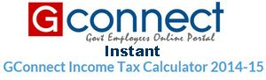 Instant GConnect Income Tax Calculator 2014-15