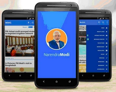 Narendra Modi launches Mobilie App i