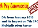 7th Pay Commission Multiplication Factor – No DA related correction needed