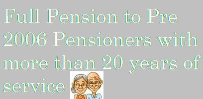 Full Pension of Pre-2006 pensioners