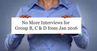 NO interview for Group C and Group B Non-gazetted posts in Central Government Posts