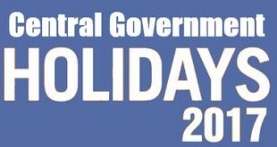 Central Government Holiday List 2017