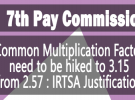 7th Pay Commission minimum pay and fitment factor – IRTSA writes to Committee of Secretaries