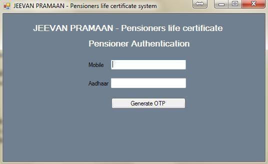 Jeevan Pramaan Pensioners Authentication