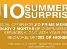 Jio Summer Surprise offer of free for three months till June 30th withdrawn