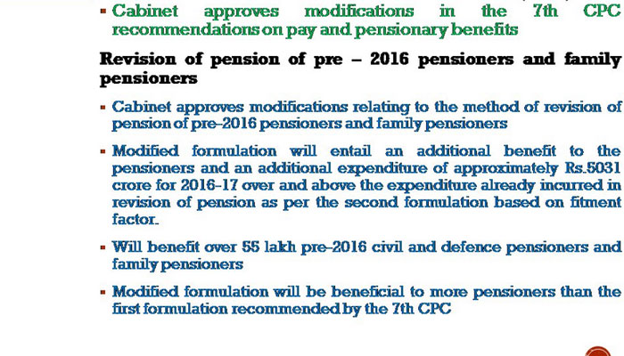 7th Pay Commission - Cabinet Approves new Pension Plan, 55 Lakh Central Govt Employees to Benefit
