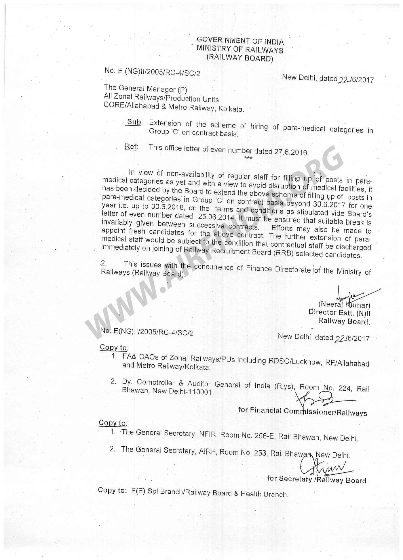 Hiring of Group C category in Paramedical