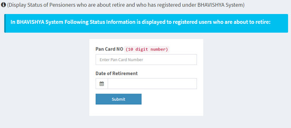 Pensioners can check their PPO Status online now