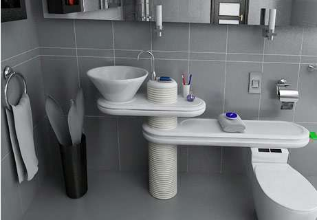 future bathroom designs,new interior designs, designs of future, new architecture