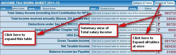 GConnect income tax calculator 2013-14